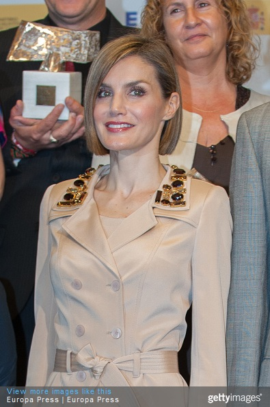 Queen Letizia of Spain attends 'Rey de Espana' and 'Don Quijote' Journalism Awards 2015 on May 7, 2015 in Madrid, Spain.