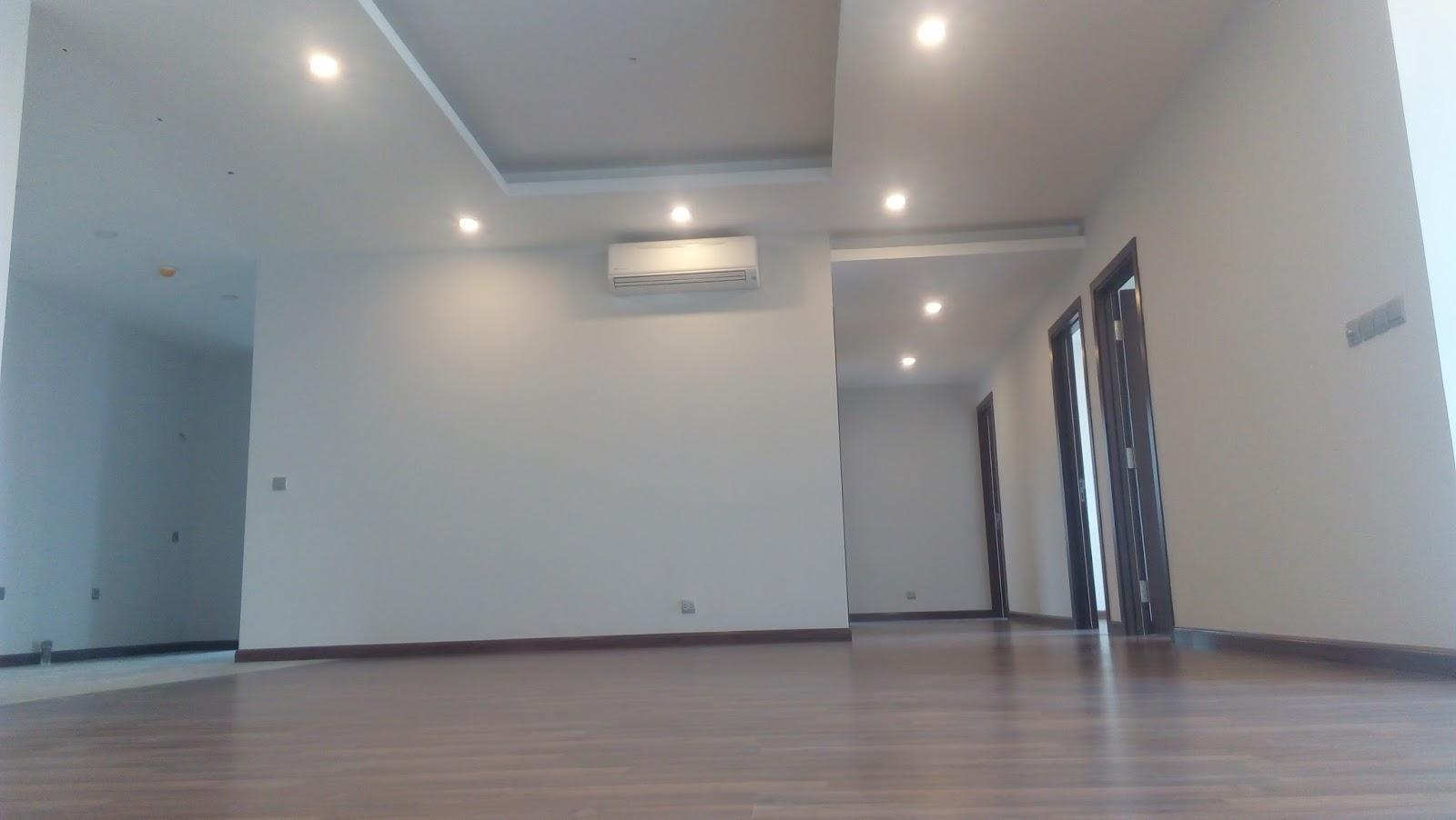 Không gian phòng khách và khu phòng ăn tại căn 171m2 - Chung cư Taseco Complex