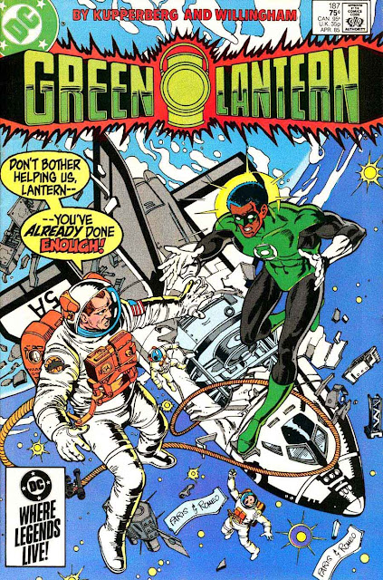 Green Lantern v2 #187 dc comic book cover art