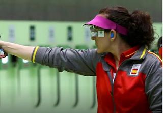 Sonia Franquet diploma en 10 m pistola de aire tiro deportivo Río 2016