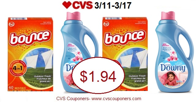 http://www.cvscouponers.com/2018/03/hot-pay-194-for-downy-liquid-or-bounce.html