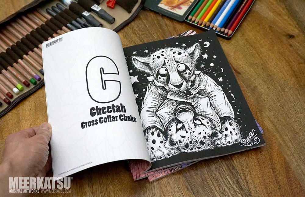 Cross Choking Cheetahs An Example Page From The Colouring Book