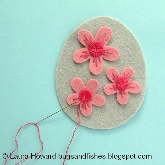 add embroidery to the cherry blossoms