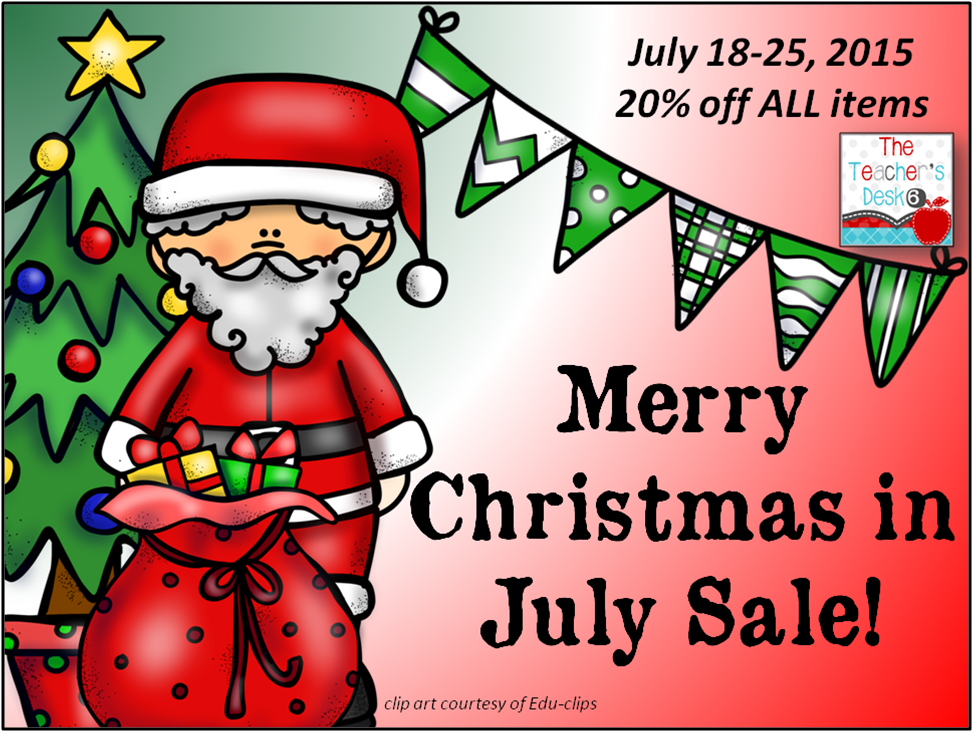 Merry Christmas In July Clipart.The Teacher S Desk 6 Twas The Week Before Christmas In