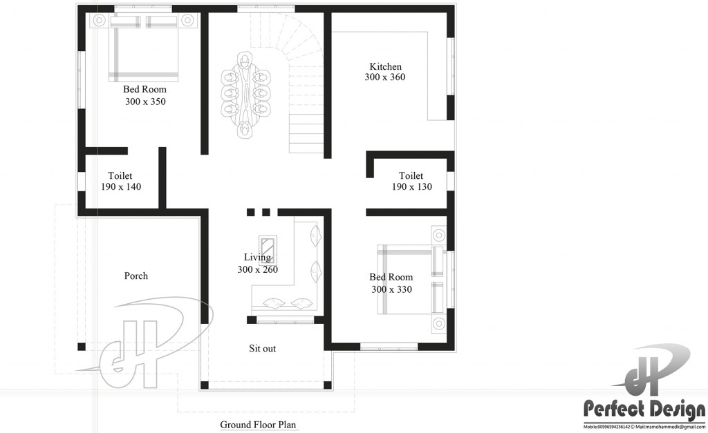 These small house plans selection consists of floor plans of more than 80 square meters. A small house plan is more convenient and affordable to build. A small house is easier to maintain, cheaper to heat and cool, and faster to clean up when company is coming! Find your dream home with these 6 small house plans for free just for you.     HOUSE PLAN 1     SPECIFICATION: Ground Floor is designed in 83 Square meters (893 Sq.Ft) Car Porch Sit out Living Dining Hall Bedrooms: 2 Toilet attached: 1 Common toilet 1 Stair Kitchen  HOUSE PLAN 2     SPECIFICATION: Floor is designed in 97.5 Square meters(1050 Sq.Ft) Sit out Living room Dining Hall Stair case Bedrooms: 2 Toilet attached: 1 Common toilet 1 Kitchen Work Area  HOUSE PLAN 3     SPECIFICATION: Ground Floor is designed in 101 Square meters(1087 Sq.Ft) Car Porch Sit out Living room Dining Hall Bedrooms : 3 Toilet attached: 1 Common toilet 1 Kitchen  HOUSE PLAN 4     SPECIFICATION Ground floor is designed in 135 square meters (1450 Sq.Ft) Porch Sit out Living room Dining hall Bedrooms : 3 Attached bath: 1 Common bath: 1 Kitchen Courtyard     HOUSE PLAN 5     SPECIFICATION Ground Floor is designed in 107 Square meter (1153 Sq.Ft) Porch Sit out Living room Dining Hall Bedrooms : 3 Toilet attached : 2 Bath :1 Kitchen Work area Stair  HOUSE PLAN 6     SPECIFICATION: Ground Floor is designed in 130 Square meters(1338 Sq.Ft) Car porch Sit out Living room Dining hall 3 Bedrooms 3 Attached Toilets Kitchen Stair  SOURCE: https://amazingarchitecture.ne