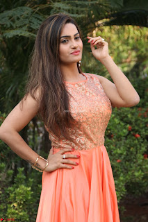 Actress Sakshi in beautiful orange Anarkali Dress Spicy Pics    048.jpg