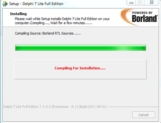 Cara install delphi7