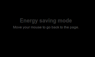 Active Energy Saving Mode or screen saver on Blogger blog