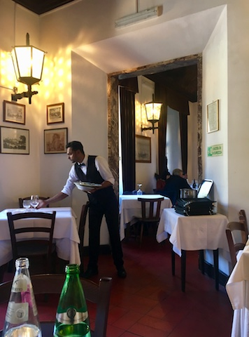 Al Pompiere Restaurant in Rome's Jewish Ghetto