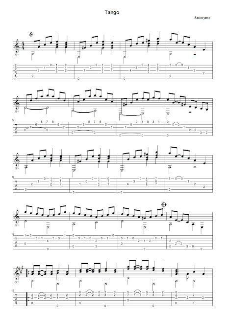 Tango Partitura