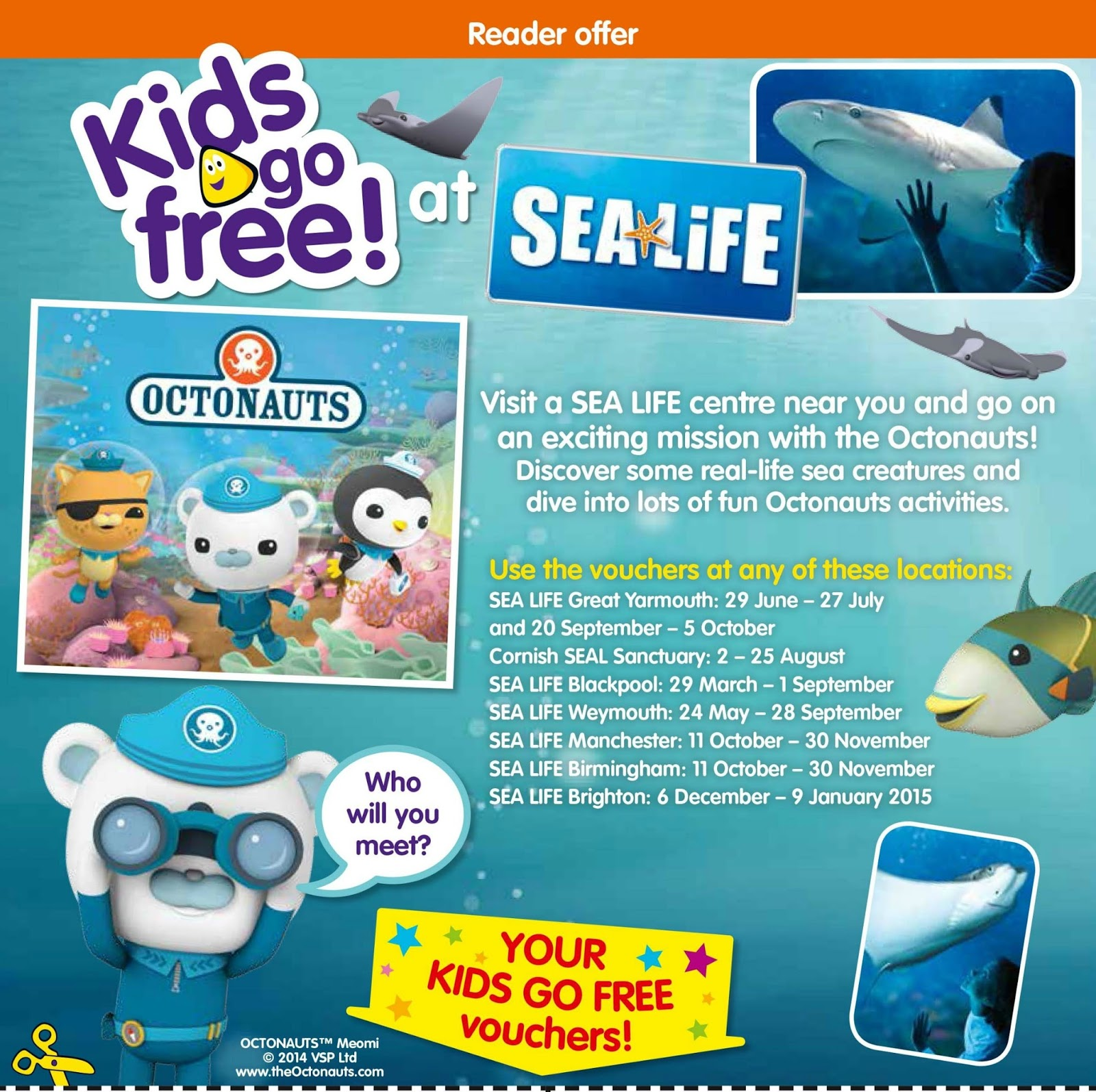 cBeebies Magazine Sea Life Centre Page 16th July 2014