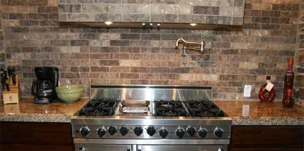 Brick Vector Picture: Brick Tile Backsplash