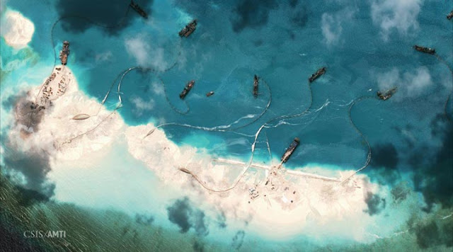The reclamation activities of China in Panganiban (Mischief) Reef at West Philippine Sea
