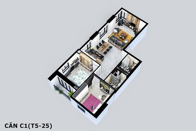 Thiết kế căn C1 Tabudec Plaza