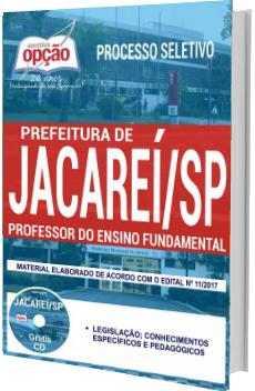 Apostila Prefeitura de Jacareí 2017 Professor