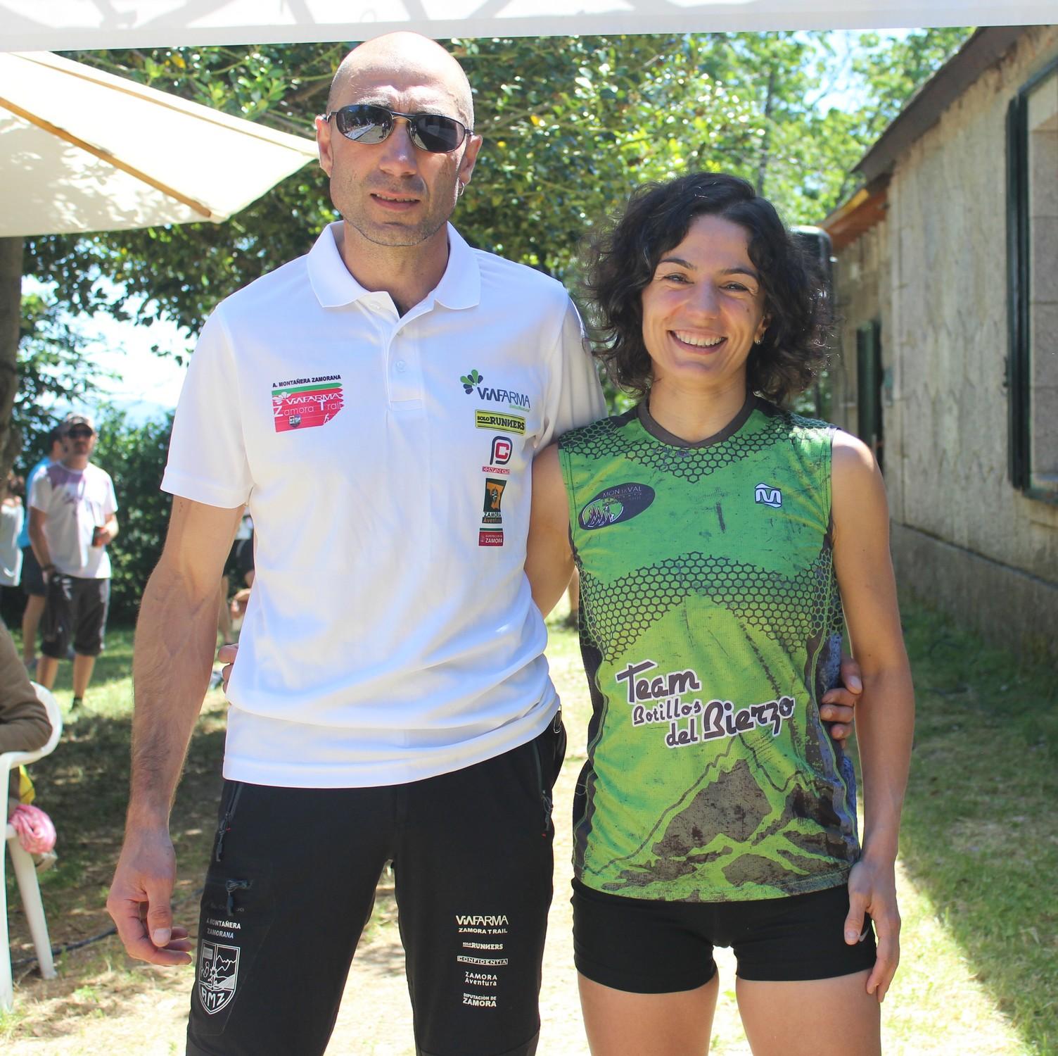 Santiago Mezquita y Beatriz Rodríguez, ganadores de la XVIII Carrera por Montaña de Sanabria. /TRAILCYL
