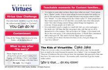 Teachers Virtue Cards