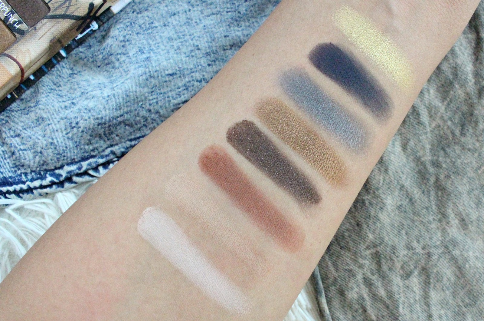 Urban Decay Jean-Michel Basquiat Gold Griot Palette Swatches ...