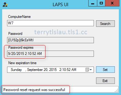 Terry L@u's blog: Deploy Local Administrator Password