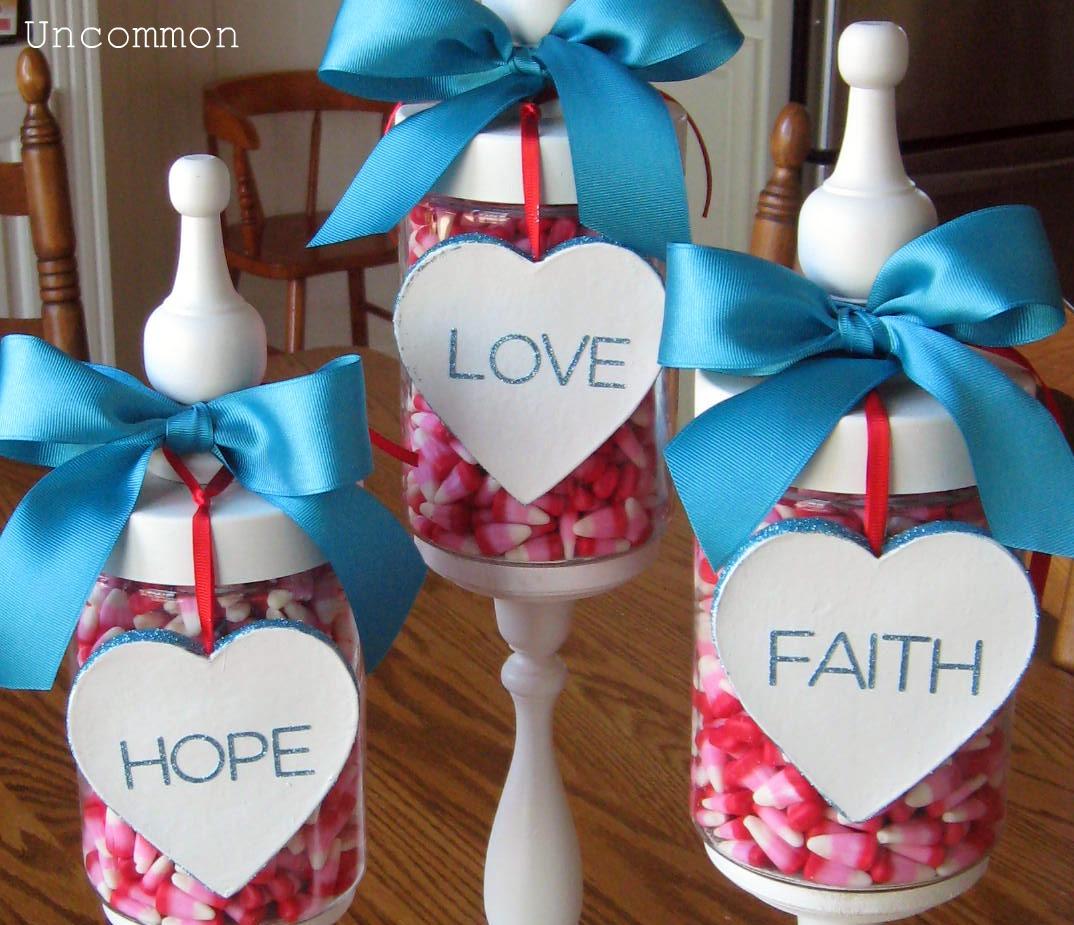 Valentine Apothecary Jars Faith Hope And Love