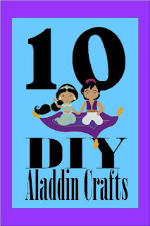 Create some fun at you Aladdin party with these 10 DIY crafts that are perfect for party crafts, party decorations, and party fun. #aladdinparty #aladdincrafts #diypartymomblog