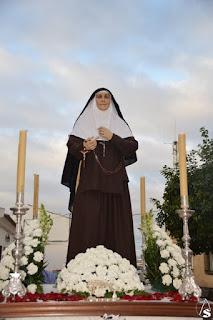 Santa Ángela de la Cruz procesionó por vez primera en Huévar del Aljarafe