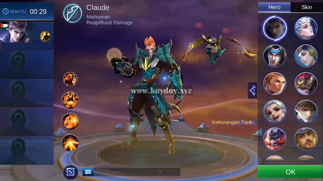 Download Script Skin Epic Claude Mobile Legends Patch Terbaru