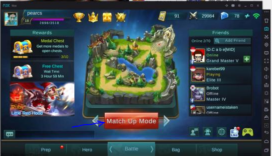 how to play mobile legends: bang bang on computer or