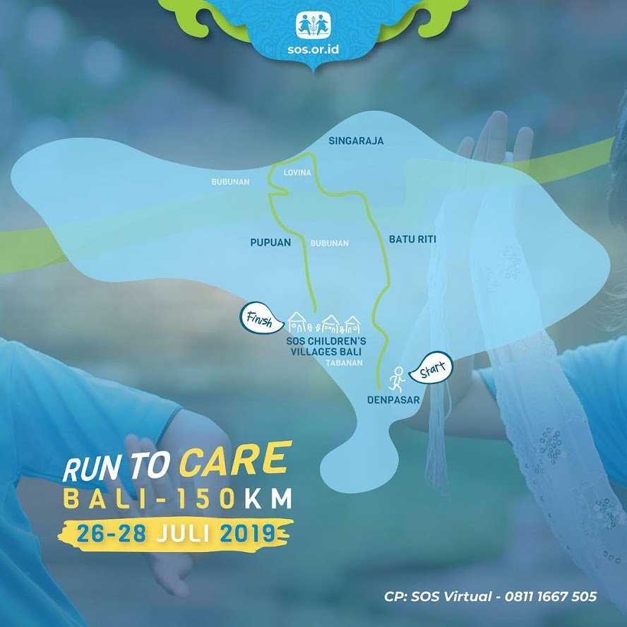 Rute Run to Care - Bali • 2019