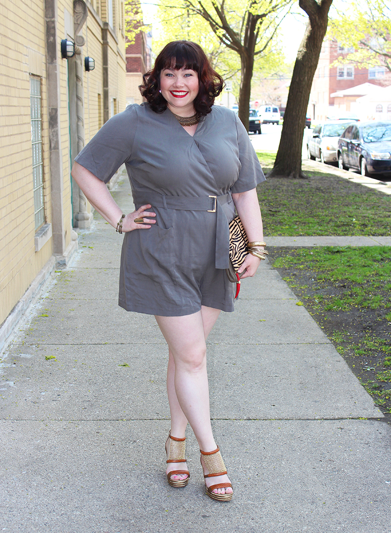 Plus Size Blogger Amber from Style Plus Curves in a Simply Be plus size romper