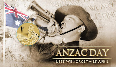 lest we forge flag anzac day