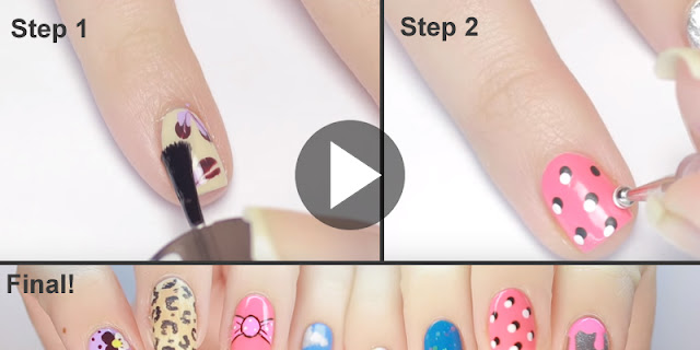 How To Create Simple And Easy 10 Easy Nail Art Designs!