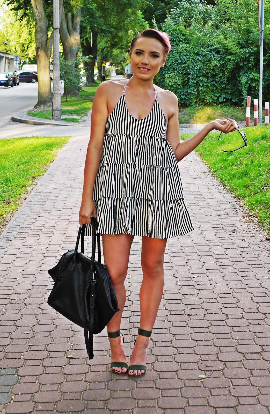 stripes_dress_green_heels_ootd_look_karyn_blog_010817d
