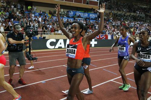 Record du monde du 1500 m - Genzebe Dibaba