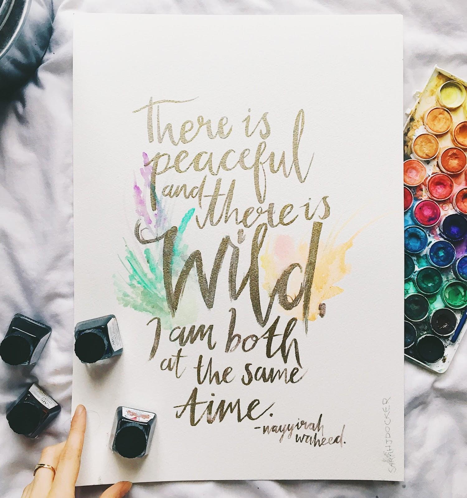 gold glitter quote