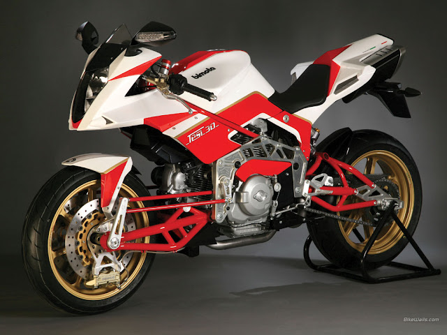 Bimota Tesi 2D white and red color