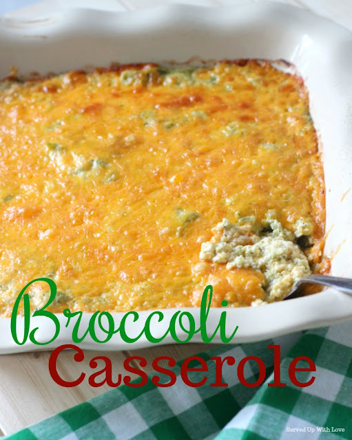 Ooey, gooey, and cheesy Broccoli Casserole recipe from Served Up With Love will make you fall in love with broccoli again.