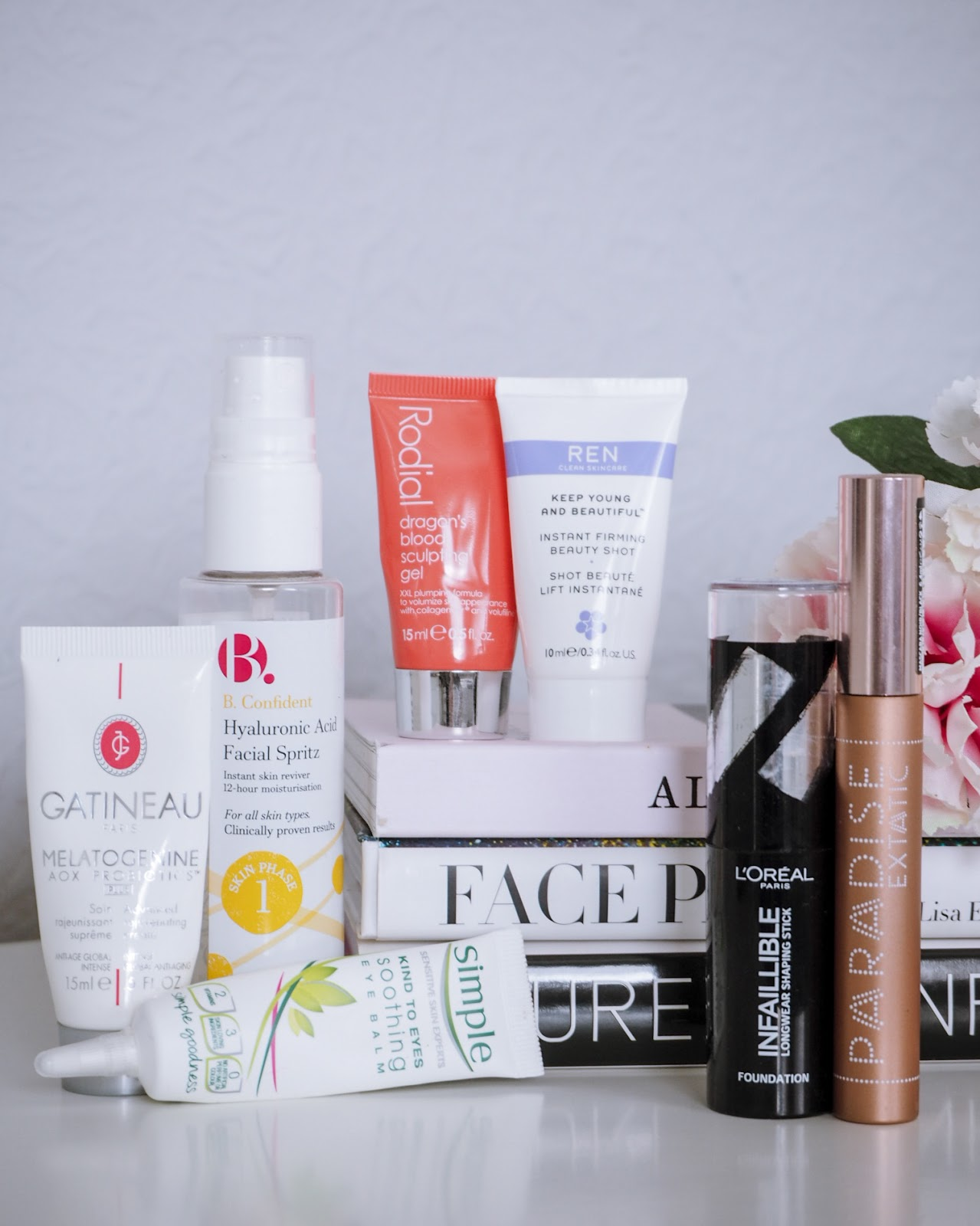 Selection of Empty Skincare and Makeup Products