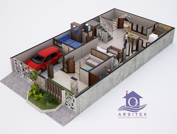 Desain Rumah Ibu Lilik Sidoarjo