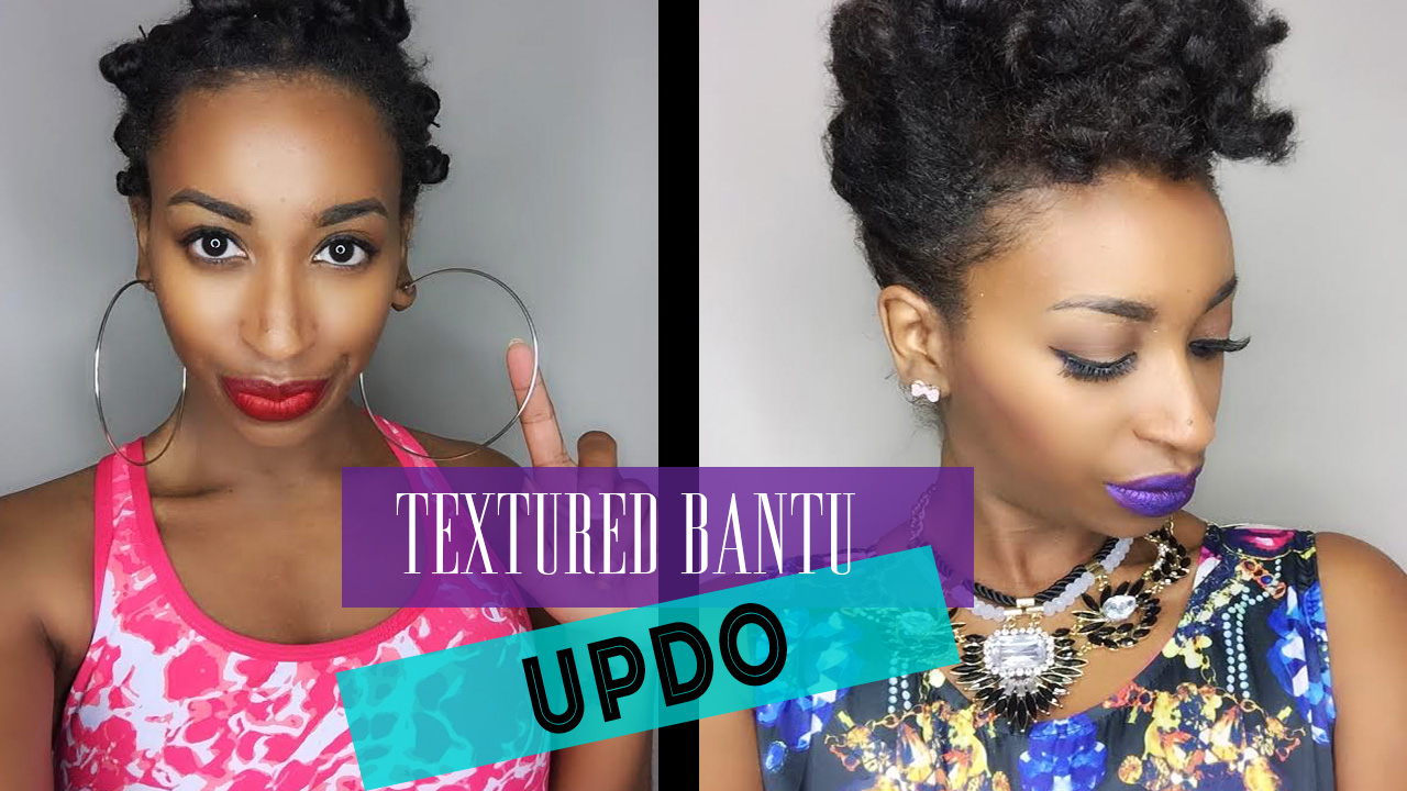 textured bantu knot-out updo- natural hair styles   curlynikki