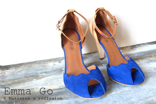Escarpins soldes Emma Go bleu chair beige chaussures Riona