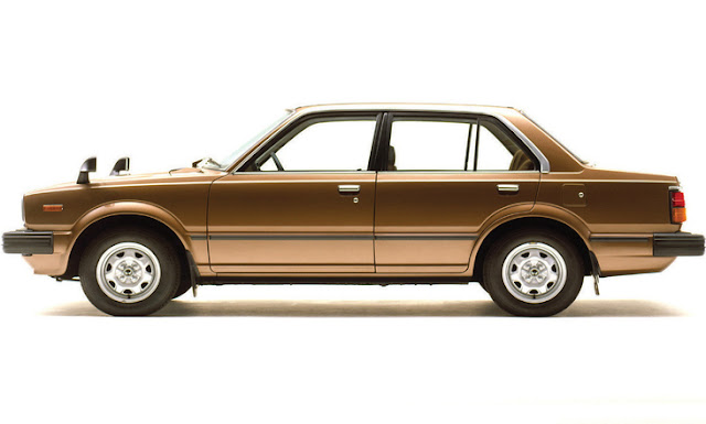 Classic Honda Civic Sedan Second Generation - Brown
