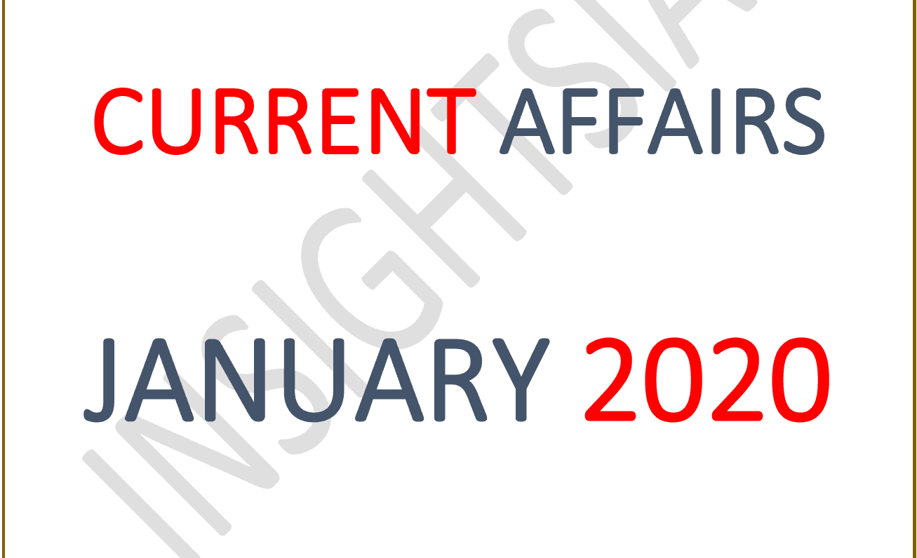 InsightsIAS Current Affairs January 2020