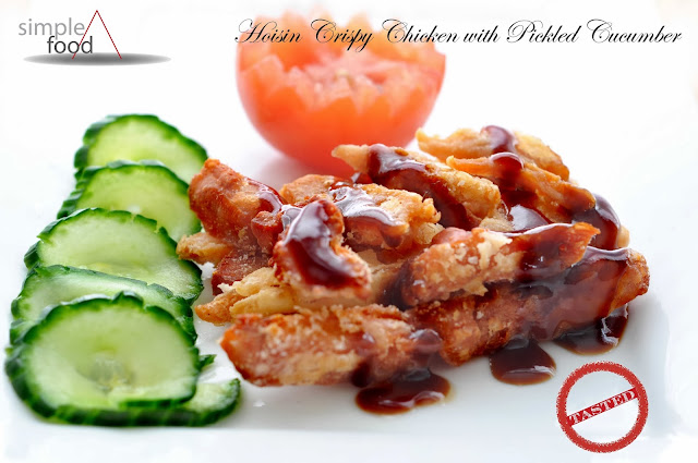 Hoisin Crispy Fried Chicken with Pickled Cucumber ~ Simple Food