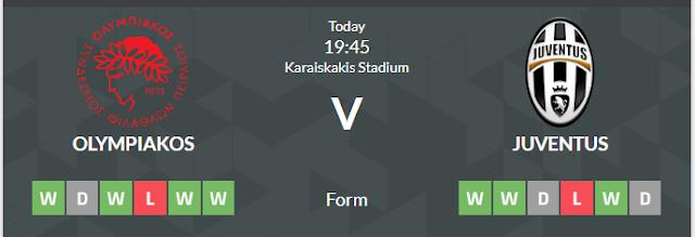 Prediksi Taruhan Olympiakos vs Juventus