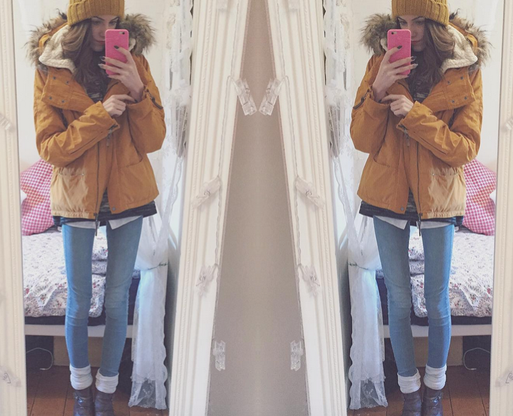 mustard coat ootd blog