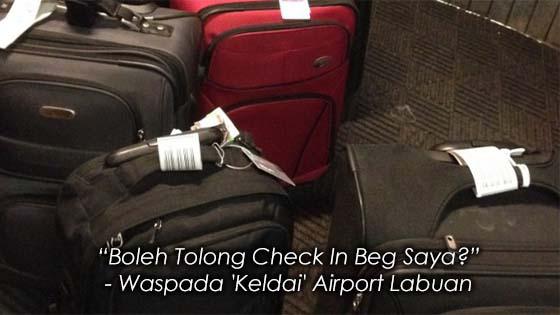 Orang Tak Dikenali Tiba-Tiba Minta Tolong Check In Beg