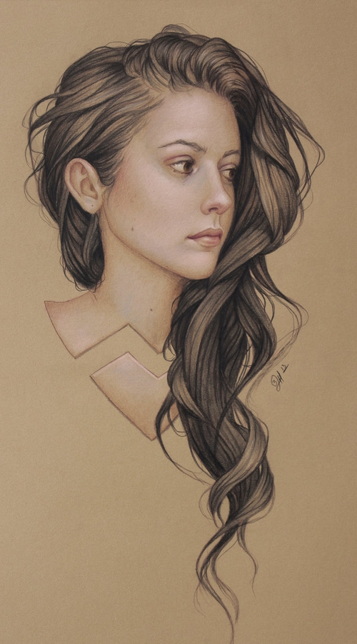 06-Meg-Myers-Jennifer-Healy-Traditional-Art-Color-Pencil-Drawings-www-designstack-co