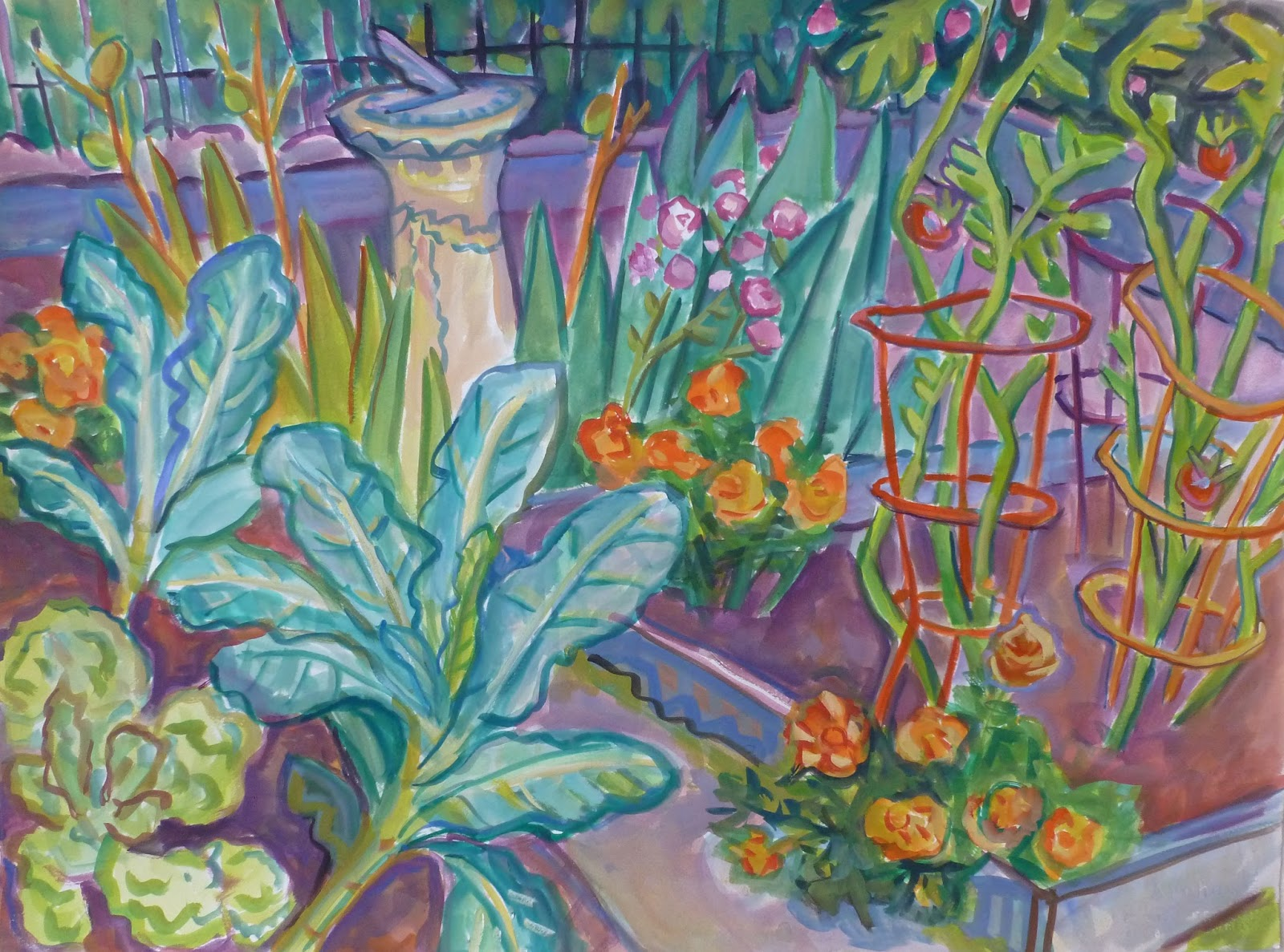 Admirable Kate Knapp Artist Blog Our Vegetable Garden In The Berkshires Interior Design Ideas Gentotryabchikinfo