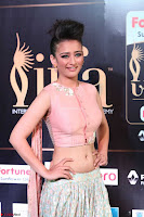 Akshara Haasan in Peachy Crop Top Choli Skirt at IIFA Utsavam Awards 009.JPG